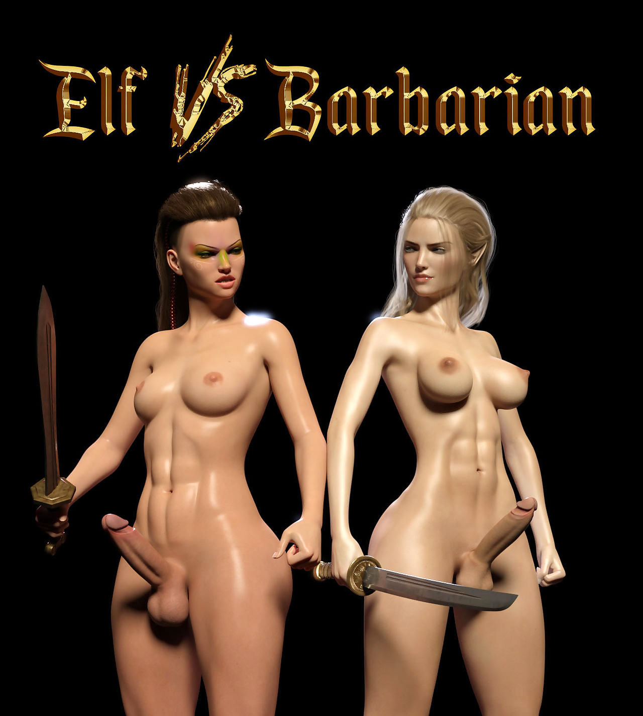 Sarubo3d- Elf vs Barbarian